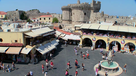 An overview of the European town square at Rhodes, Footage