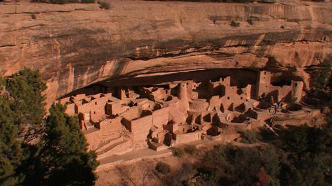 American Indian dwellings at Mesa Verde National P Stock Video Footage
