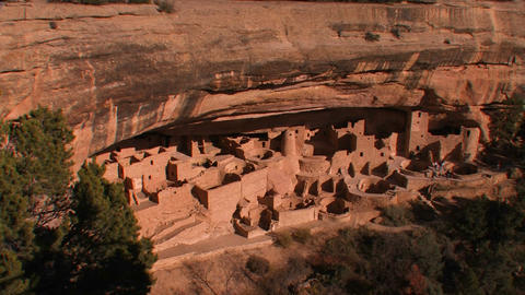 American Indian dwellings at Mesa Verde National P Footage