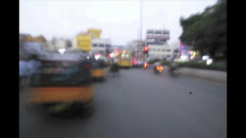 Dizzying time lapse of traffic on an Indian road Stock Video Footage
