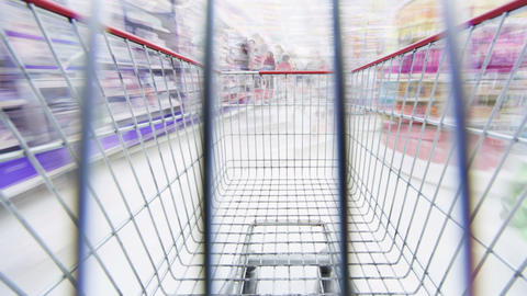 Grocery Shopping Stock Video Footage