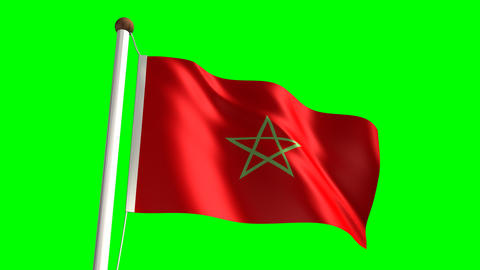 Morocco flag Stock Video Footage