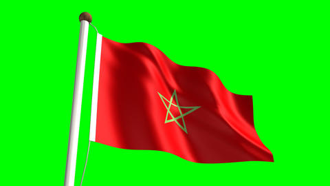 Morocco flag Animation