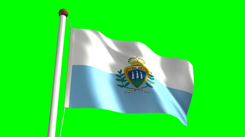 San Marino flag Stock Video Footage