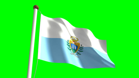 San Marino flag Animation
