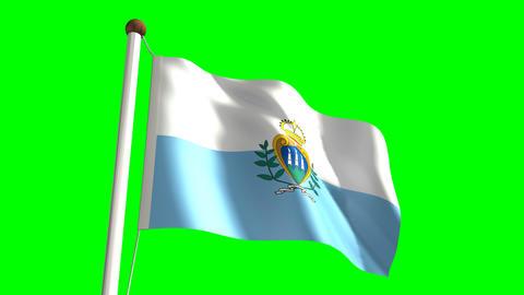 San Marino flag Stock Video Footage