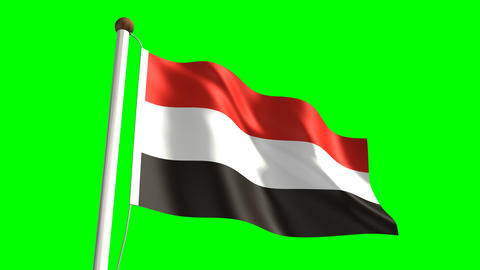 Yemen flag Animation