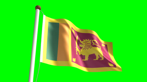Sri Lanka flag Stock Video Footage