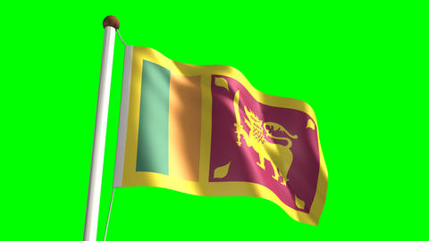 Sri Lanka flag Stock Video Footage