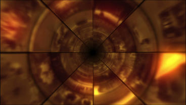 Video Clips Tunnel Vortex Cycle Colors 24P stock footage