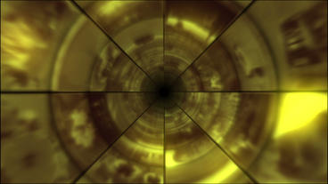 Video Clips Tunnel Vortex Gold 25P Animation