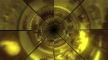 Video Clips Tunnel Vortex Gold 25P Stock Video Footage