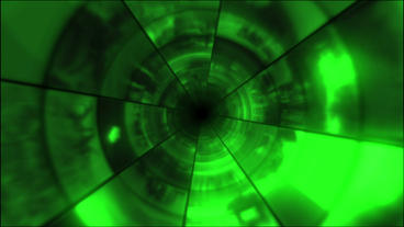 Video Clips Tunnel Vortex Green 24P Stock Video Footage