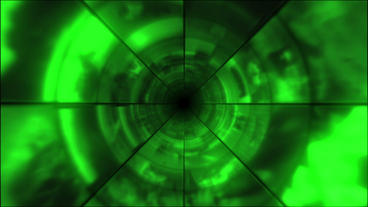 Video Clips Tunnel Vortex Green 30P Stock Video Footage