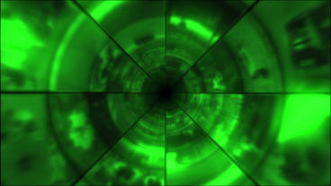 Video Clips Tunnel Vortex Green 30P Animation