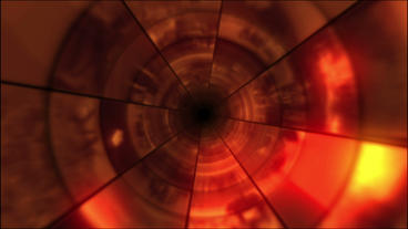 Video Clips Tunnel Vortex Red 25P Stock Video Footage