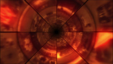 Video Clips Tunnel Vortex Red 25P Animation