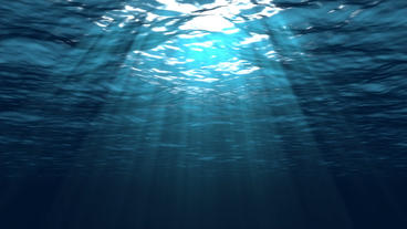 Beautiful Underwater Scene With Sun Rays Seamlessl Animation