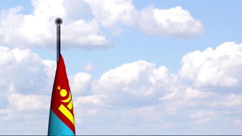 Animated Flag of Mongolia / Mongolei Stock Video Footage