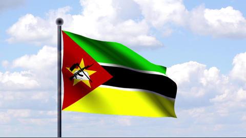 Animated Flag of Mozambique / Mosambik Animation