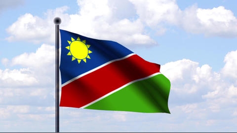 Animated Flag of Namibia Stock Video Footage