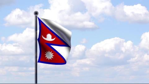 Animated Flag of Nepal Animation