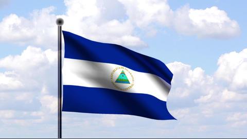 Animated Flag of Nicaragua / Nicaragua Stock Video Footage