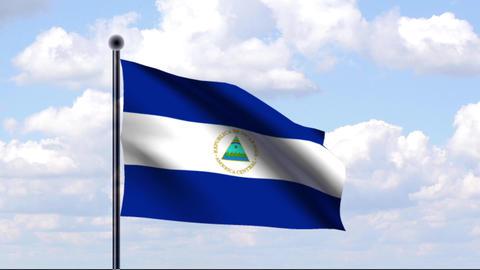 Animated Flag of Nicaragua / Nicaragua Animation