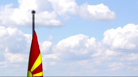 Animated Flag of Macedonia / Mazedonien Stock Video Footage