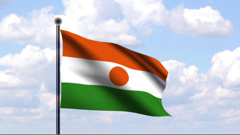 Animated Flag of Niger Stock Video Footage
