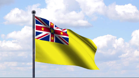 Animated Flag of Niue / Animierte Flagge von Niue Animation