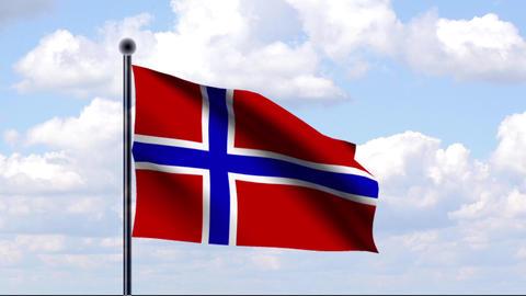 Animated Flag of Norway / Norwegen Animation