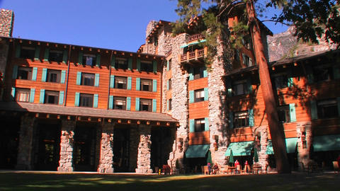Ahwahnee Lodge in Yosemite National Park in Califo Footage