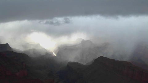 A time lapse of clouds moving over layers of mount Stock Video Footage