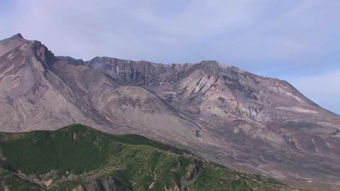 Crevasses and ash at the national park cover the s Stock Video Footage
