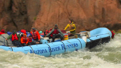 A rafting expedition heads down the Colorado River Footage