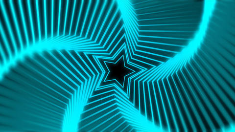 Star Radiation blue blur Stock Video Footage