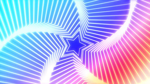 Star Radiation colorful background Stock Video Footage