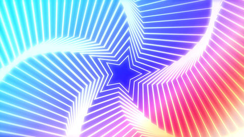 Star Radiation colorful background Animation
