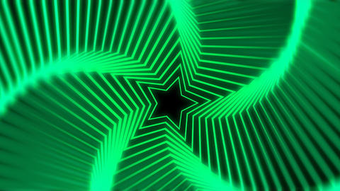 Star Radiation green blur Animation