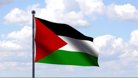 Animated Flag of Palestinian Territories Animation