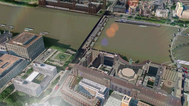 a bird's-eye view of London eye Stock Video Footage