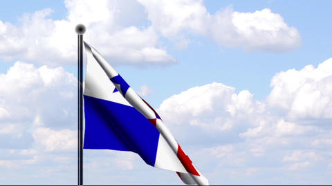 Animated Flag of Panama Stock Video Footage