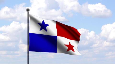 Animated Flag of Panama Stock Video Footage