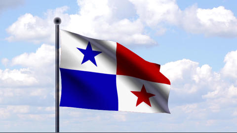 Animated Flag of Panama Animation
