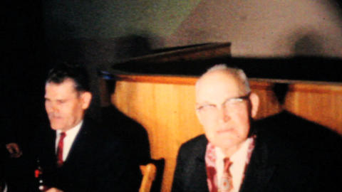 Old Men At A Board Meeting 1963 Vintage 8mm film Stock Video Footage