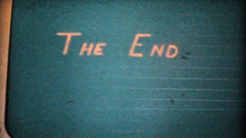 The End Title 1963 Vintage 8mm film Stock Video Footage
