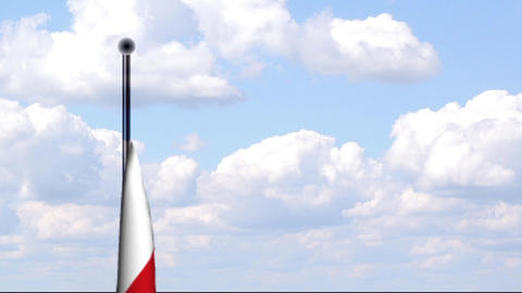 Animated Flag of Poland / Polen Stock Video Footage