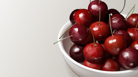 cherry close up white background Animation
