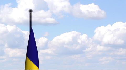 Animated Flag of Romania / Rumänien Stock Video Footage
